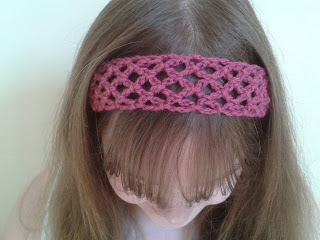 Easy Lace Head Band Free Crochet Pattern
